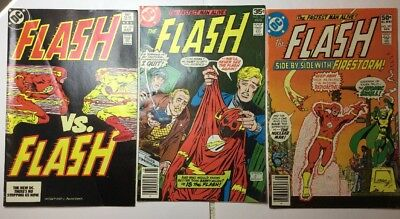 dc flash comic 3 Book Lot #264-293- And 323 Flash VS Flash KEY Book All 8-9+