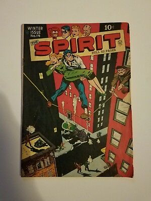 The Spirit #14 Quality Comics Golden Age Comic Book Scarce Eisner