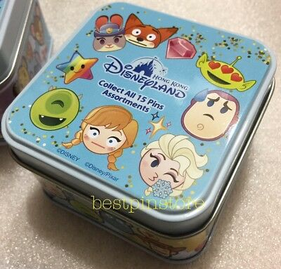 Hong Kong Disney pin - HKDL 2017 Emoji Mystery Tin With Random 5 Pins