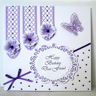 Exquisite Lattice Window Frame Cutting Die for DIY Scrapbooking Embossing Card
