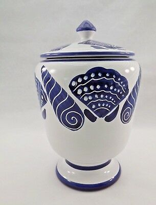 Starbucks Sberna Deruta from Italy Blue Shell Coffee Canister