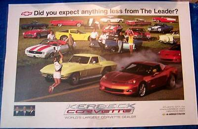 Corvette & Other Chevrolet Muscle Cars Limited Edition Poster *RARE*