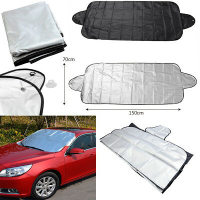 2pcs Car Windshield Front Rear Window Sun Shield Snow Shade Cover UV Protection