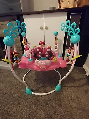 Baby Bouncer Jumper Minnie Mouse Disney RRP £120 Excellent Play Activity Station