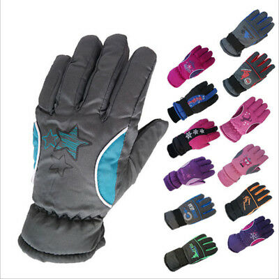 Winter Warm Gloves Kids Skis Cycling Climbing Outdoor Waterproof Fashion Mittens