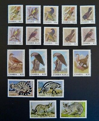 Zambia 1990 / 91 Bird, Animal Stamp Sets