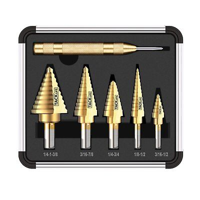 Tacklife PDH06A Classic Titanium Step Drill Bit Set  Automatic Center