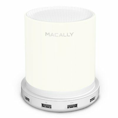 Macally LED Desk, Bedside  Nightstand Table Lamp with 4 High Powered USB