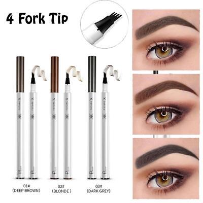 Women Tattoo Eyebrow Pencil Waterproof Long lasting Fork Tip Microblading Makeup