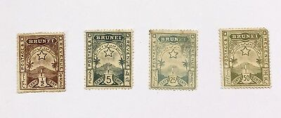 Brunei Stamps, 1895 Star, 4 Values