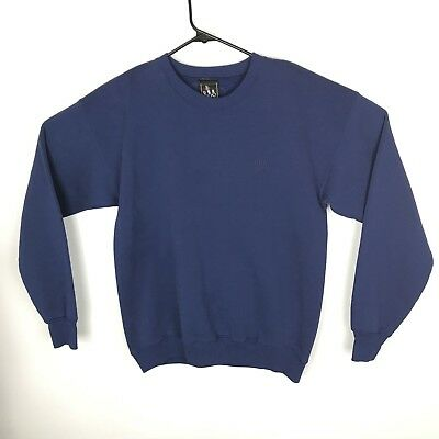 JC Penny Vintage USA Made Olympic Pullover Crew Neck Sweatshirt Blue Mens L (d82