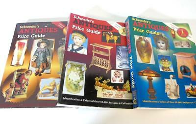 (3) SCHROEDER'S ANTIQUE PRICE GUIDE PAPERBACK BOOKS by SHARON & BOB HUXFORD