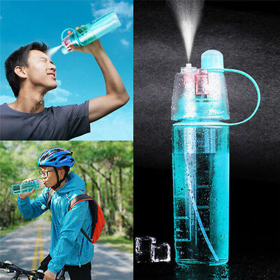 400-600ML Water Bottle With Straw Drink Spray Cup Climbing Cycling Hiking Sports
