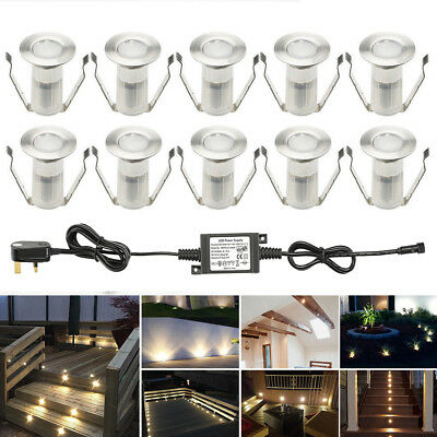 10X Low Voltage 19mm Outdoor Yard Patio Landscape Lighting LED Deck Stair Lights