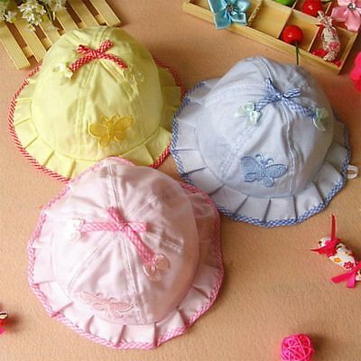 For Girls Baby Infant Sun Hats Cotton Baby Hats Caps Baby Butterfly Hats