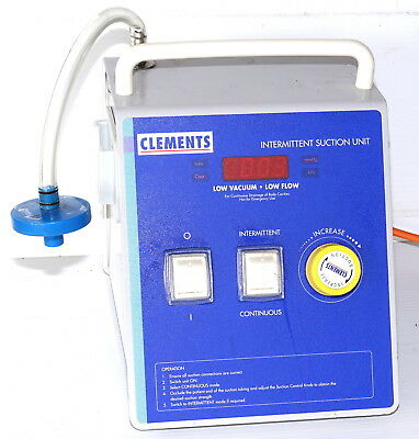 Clements SUC82660 Medical Body Cavity Suction Vacuum Pump 150mmHG Int/Cont Adj