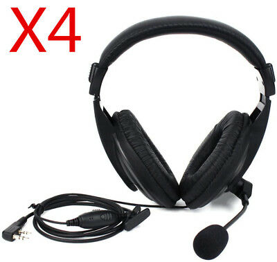 4pcs PTT/VOX Headset 2Pin Earpiece For H777/RT1/RT5R BF 888s KW Radio