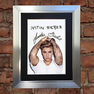 #24 JUSTIN BIEBER A5 Signed Reproduction Autograph Mounted Print