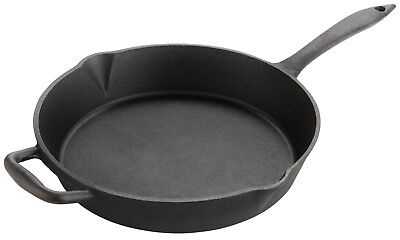 Large 12 inch / 30cm Cast Iron Skillet Frying Pan Heavy-Duty Heavy Weight 3.7Kg