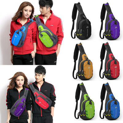Mens Womens Nylon Sling Bag Backpack Crossbody Shoulder Chest Cycle Daily Travel