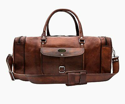 e01cba626a Genuine Indian Leather Duffle Weekend Travel Gym Overnight Bag Luggage  Holdall