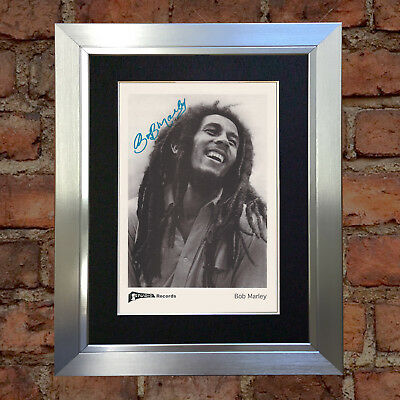 #29 BOB MARLEY A5 Signed Reproduction Autograph Mounted Print