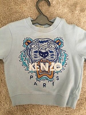 Baby boy Kenzo baby blue Jumper 2 Years