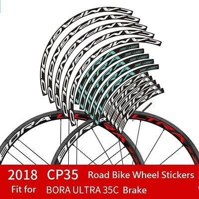 Two Wheel Stickers Set for CAMPAGNOLO Bora Ultra CP 35C Brake Road Bike Decals