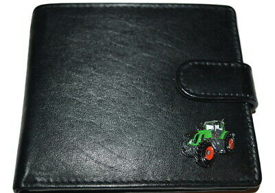 Fenght 939 Green Tractor Wallet Leather Black or Dark Brown Gift Boxed Farming