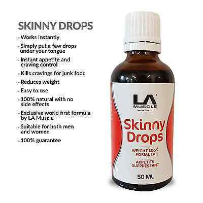 LA Muscle Skinny Drops:  Rapid weight loss, Instant appetite control