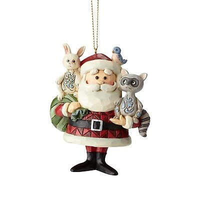 Jim Shore Rudolph Traditions Santa with Woodland Animals  Ornament New 2018