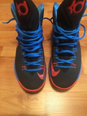 cc1e496b70a2 NIKE KD V 5 Thunder Away Black Orange Blue 554988 048 Mens Sz 10 ...