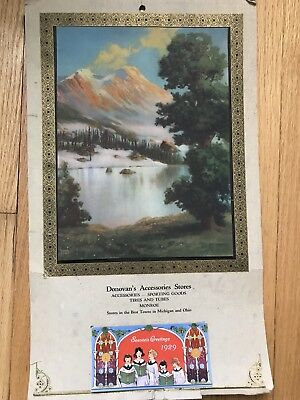 Antique 1929 Donovan's Accessories Stores Monroe MI Advertising Calendar Unused