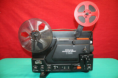 TITAN SOUND DS-620M SUPER 8mm 2 TRACK SOUND MOVIE PROJECTOR SERVICED EXCELLENT