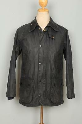 BARBOUR Bedale WAXED Jacket Navy Size 32 XSmall