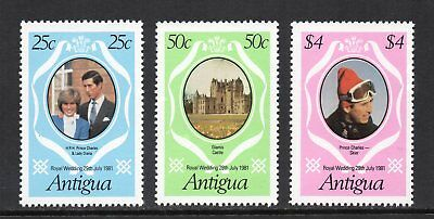 Antigua - 1981 Charles & Diana Royal Wedding, MNH Set (Perf 14)