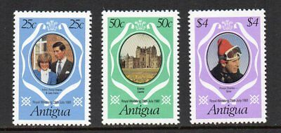 Antigua - 1981 Charles & Diana Royal Wedding, MNH Set (Perf 12)
