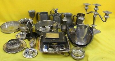 Job Lot Of Silver Plated Pewter ##GAOAFWHEA