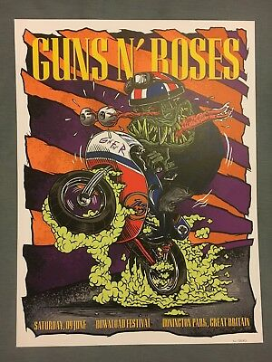 Guns N' Roses Donington Download Lithograph 41/200 LIMITED EDITION