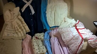 Vintage - Lot Of Baby Clothes, Dresses Mixed Sizes, Tops, Lots Of Sets, 100 Pcs.