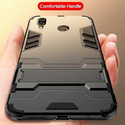 For Huawei Nova 3 3i 3E Luxury Armor Hybrid Shockproof Stand Back Case Cover