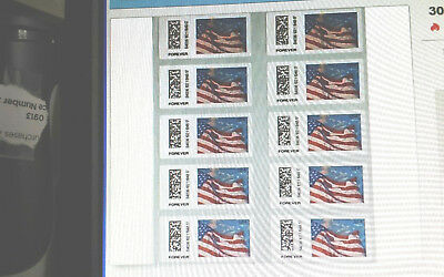 """5 USPS Certified Forever Flag Stamps  """" Fast First Class Shipping!! """" Now $2.50"""