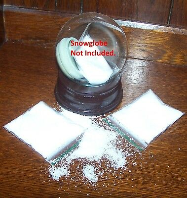 Large packet of fake Snow Globe Snow - suitable for DIY kits (full instructions)