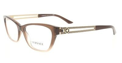 b571ad602af8 VERSACE VE 3220 5165 Brown Gradient   Gold Rectangular 52MM Eyeglasses NWC  AUTH