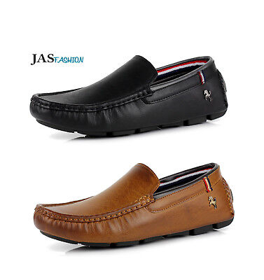 Mens Comfort Casual Slip On Fashion Penny Driving Moccasin Loafers Shoes UK Size
