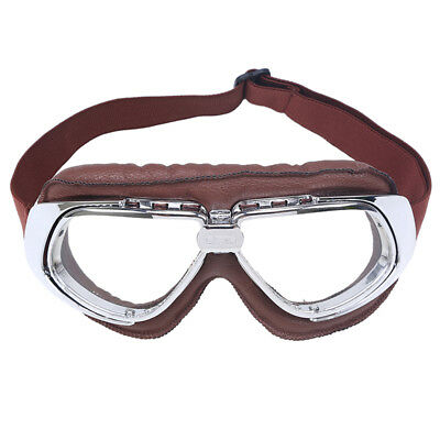 Retro Motocross Motorcycle Adult Off-Road Clear Lens Riding Goggles Vintage Ride