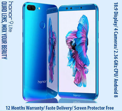 """5.65"""" Huawei Honor 9 Lite Android8.0 8-core 4G 3+32Go FHD+ 4Camera Smartphone FR"""