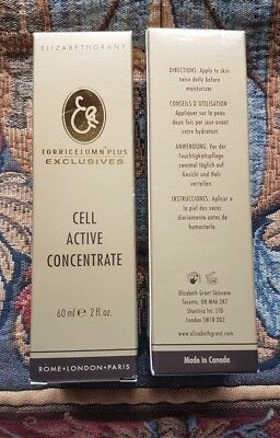 2 Elizabeth Grant - Cell Active Concentrate with Torricelumn - 60ml each - NEW