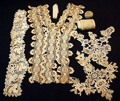 ANTIQUE FRENCH LACE- Collar/Cuffs/Other Lace Edging & Trims