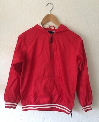 Vintage Kids 90s American Soccer Football Red Sportswear Retro Jacket 10-12 Y